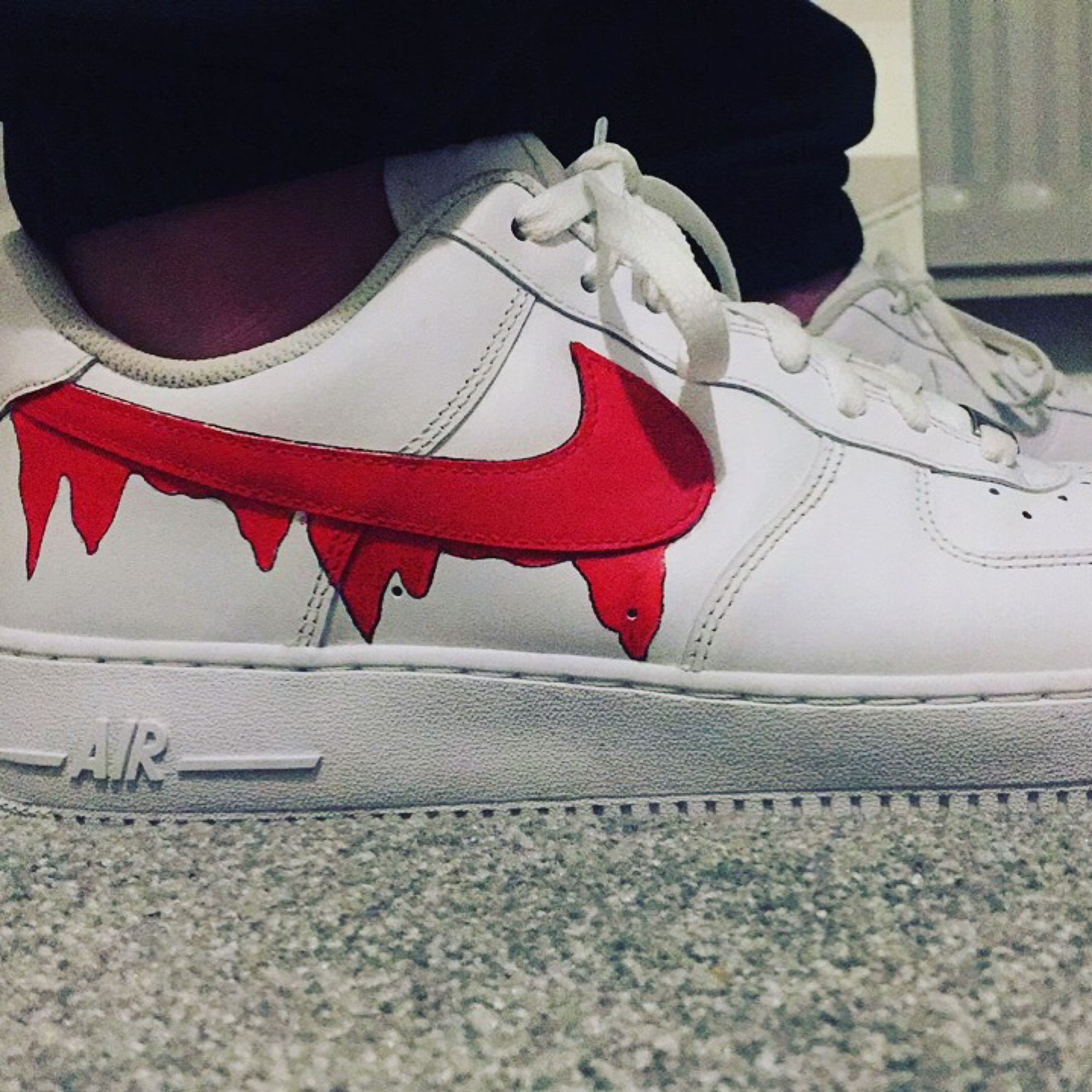 Nike Air Force 1 Swoosh Custom