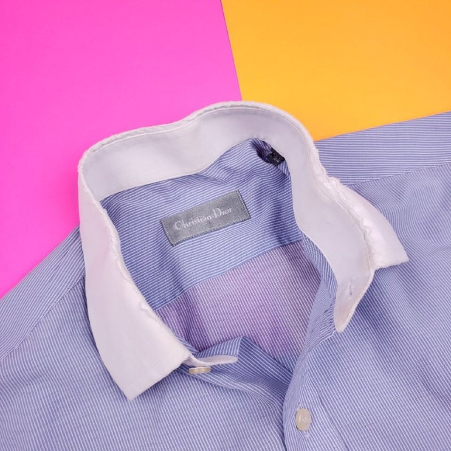 Vintage Christian Dior Striped Button Up Shirt