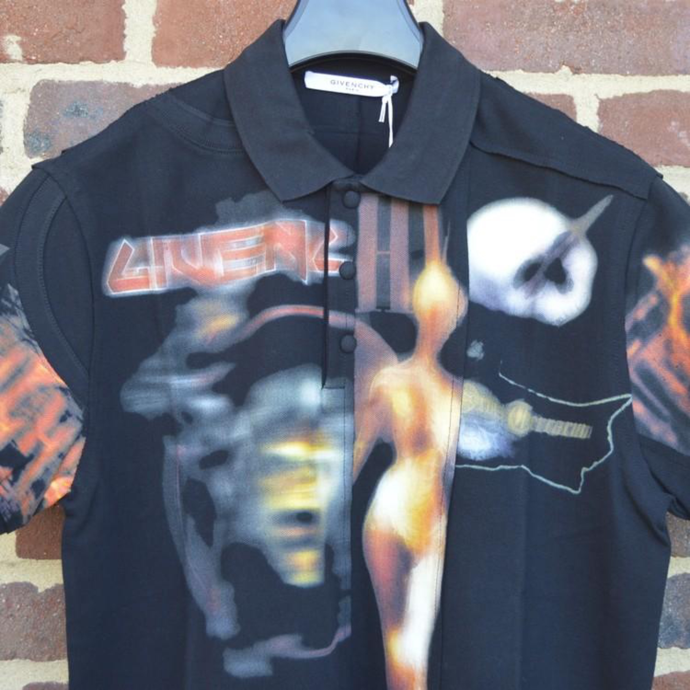 Givenchy Heavy Metal Print Polo