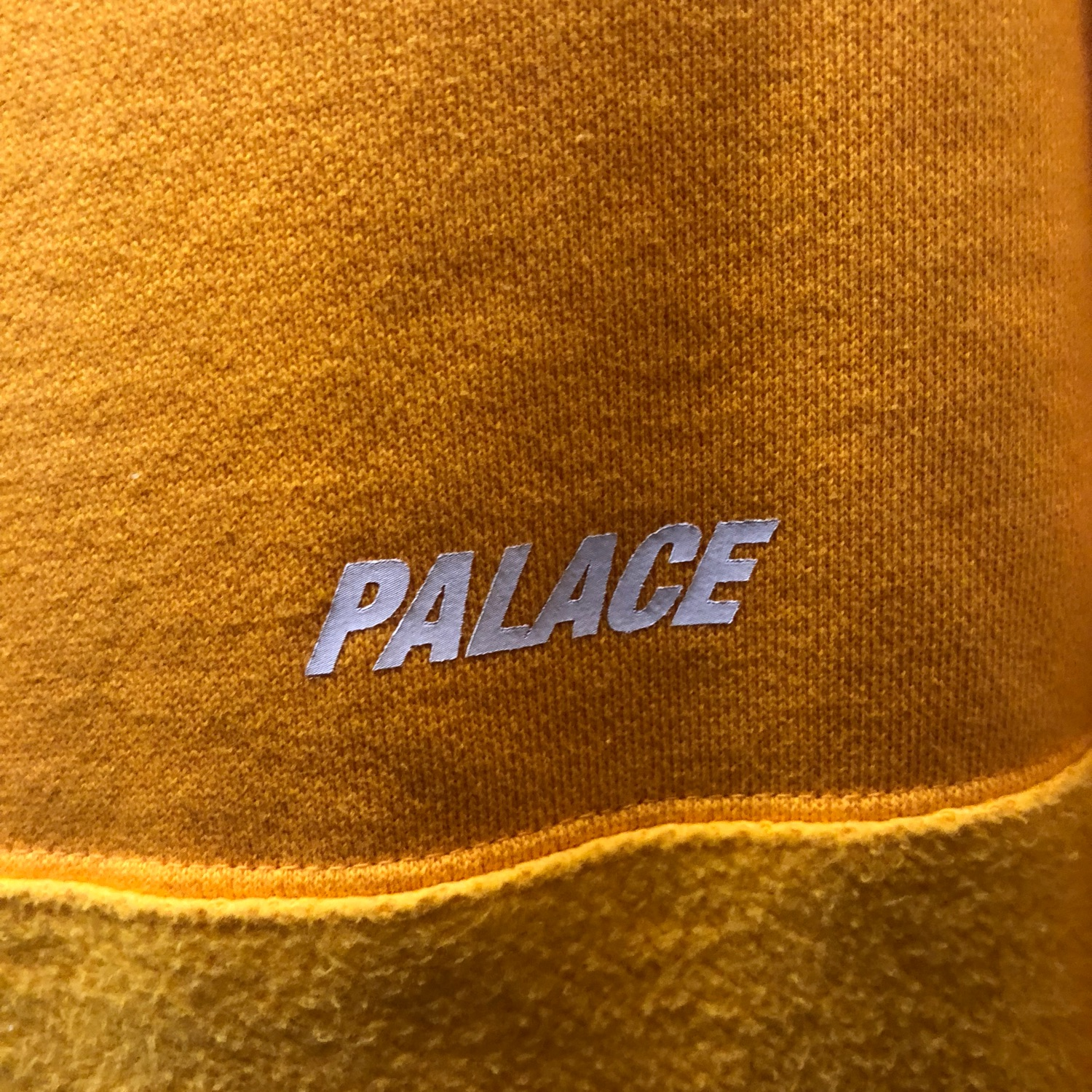 Palace For Retail: Brusher Crew Yellow Small