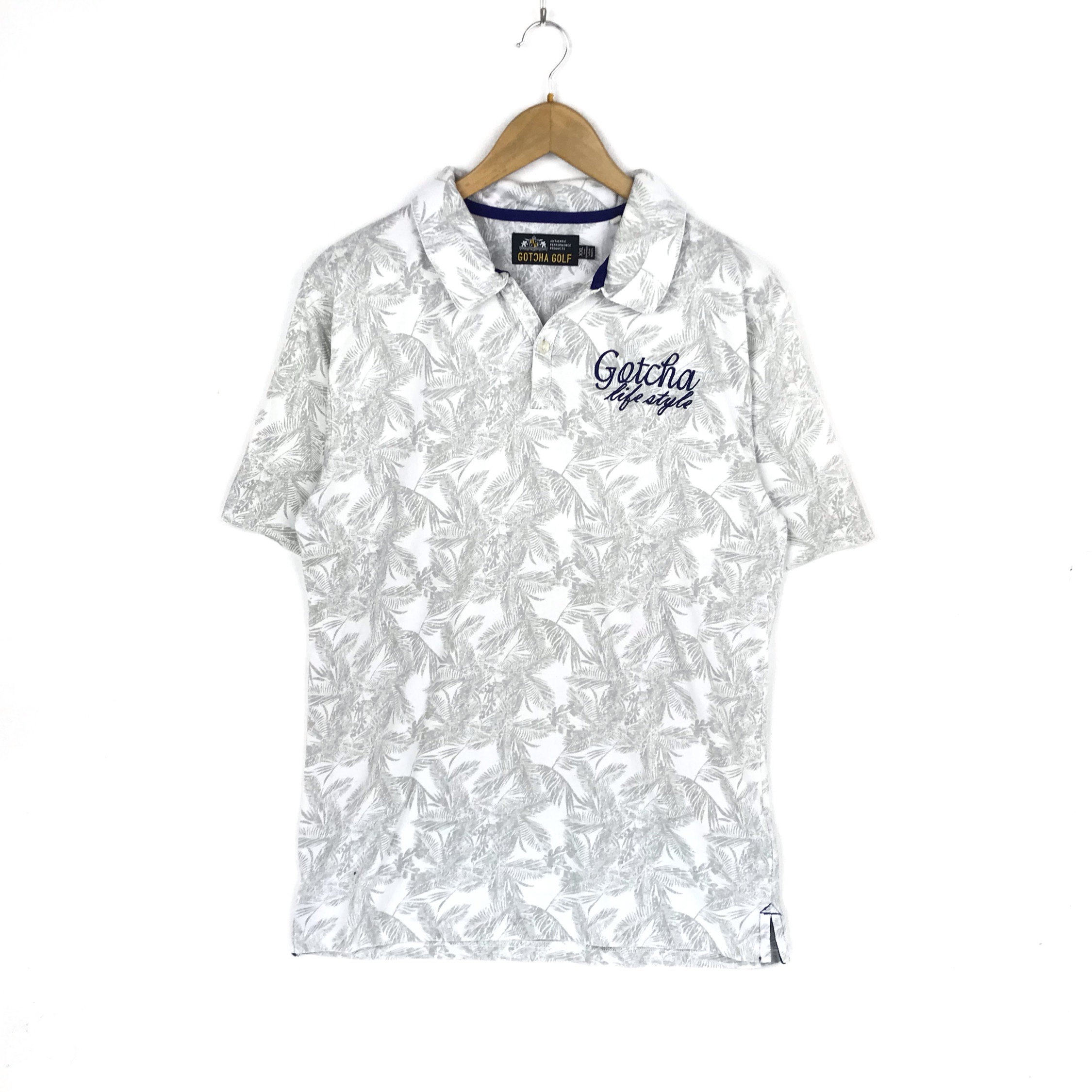 Vintage Hawaiian Shirt Gotcha Golf Polos Shirt