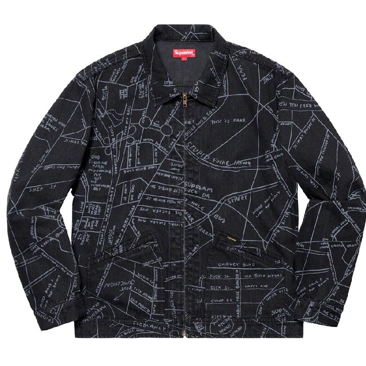 Supreme Gonz Map Jacket on