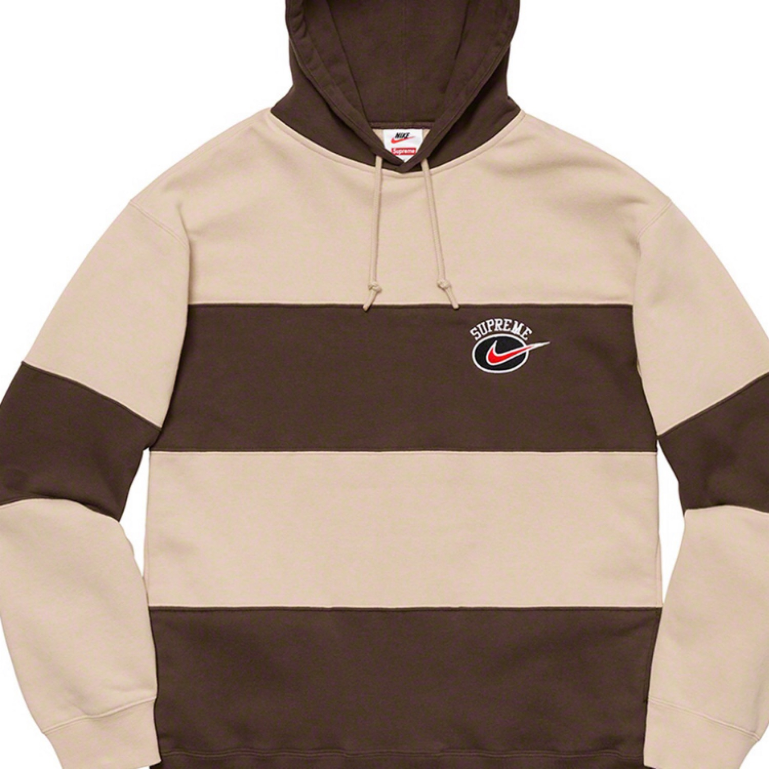 Supreme X Nike Stripe Hooded Sweatshirt