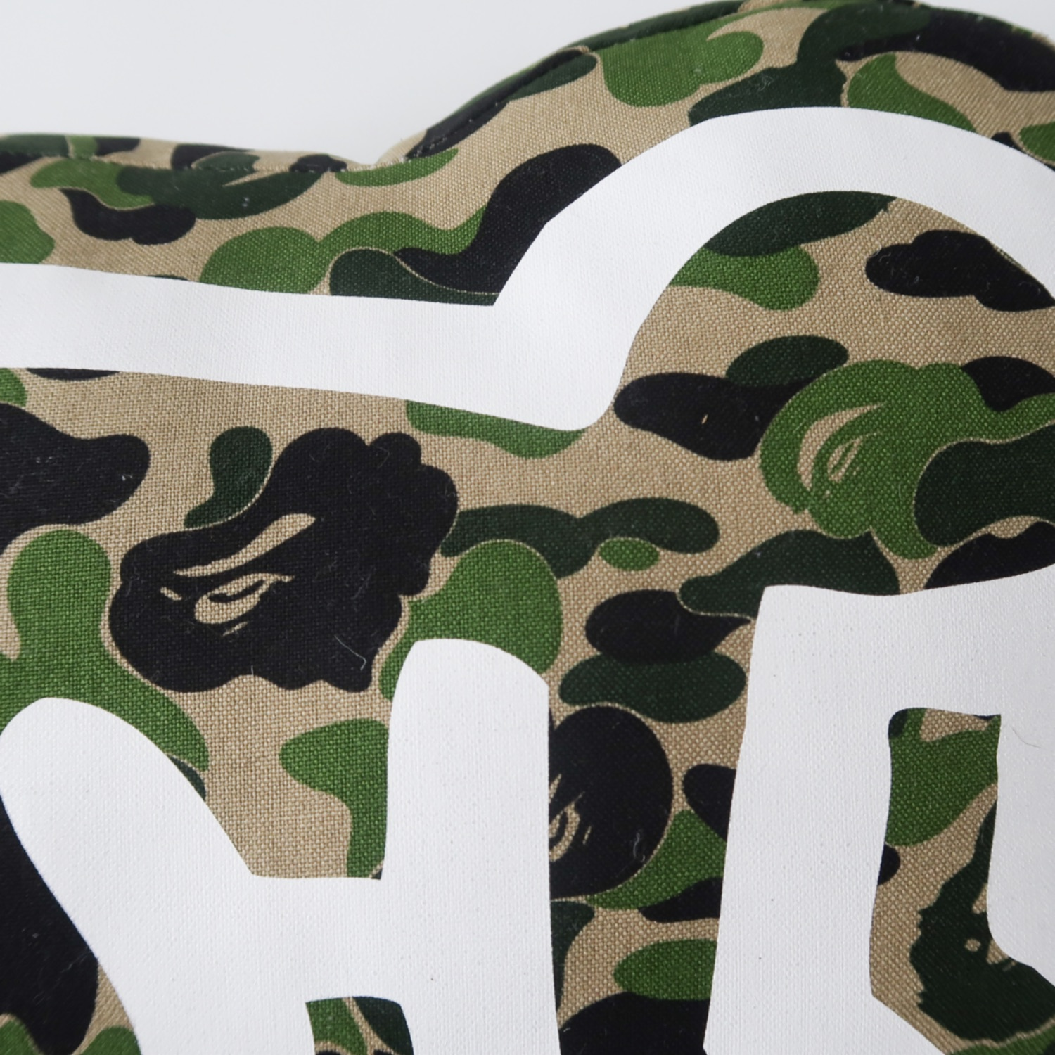 Bape. Keith Haring Green Camp Pillow (Used)