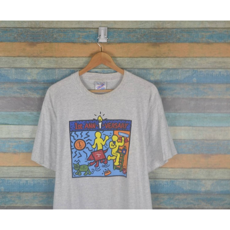 cf84501d8 Vintage 90s Keith Haring shirt pop art Size: US L / EU 52-54 / 3