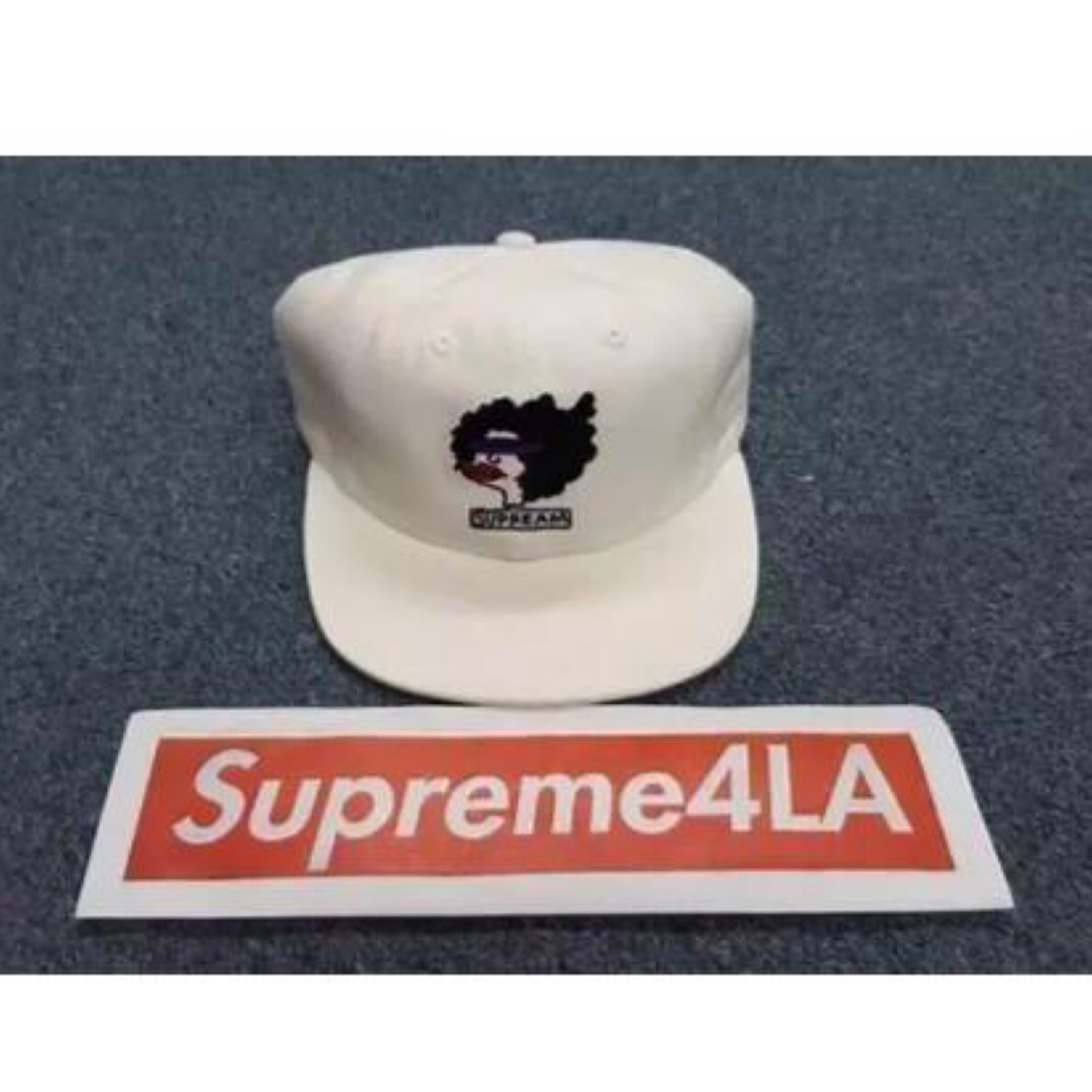 Supreme 17F//W Gonz Ramm 6-Panel Hat White 1000/% Authentic in Hand