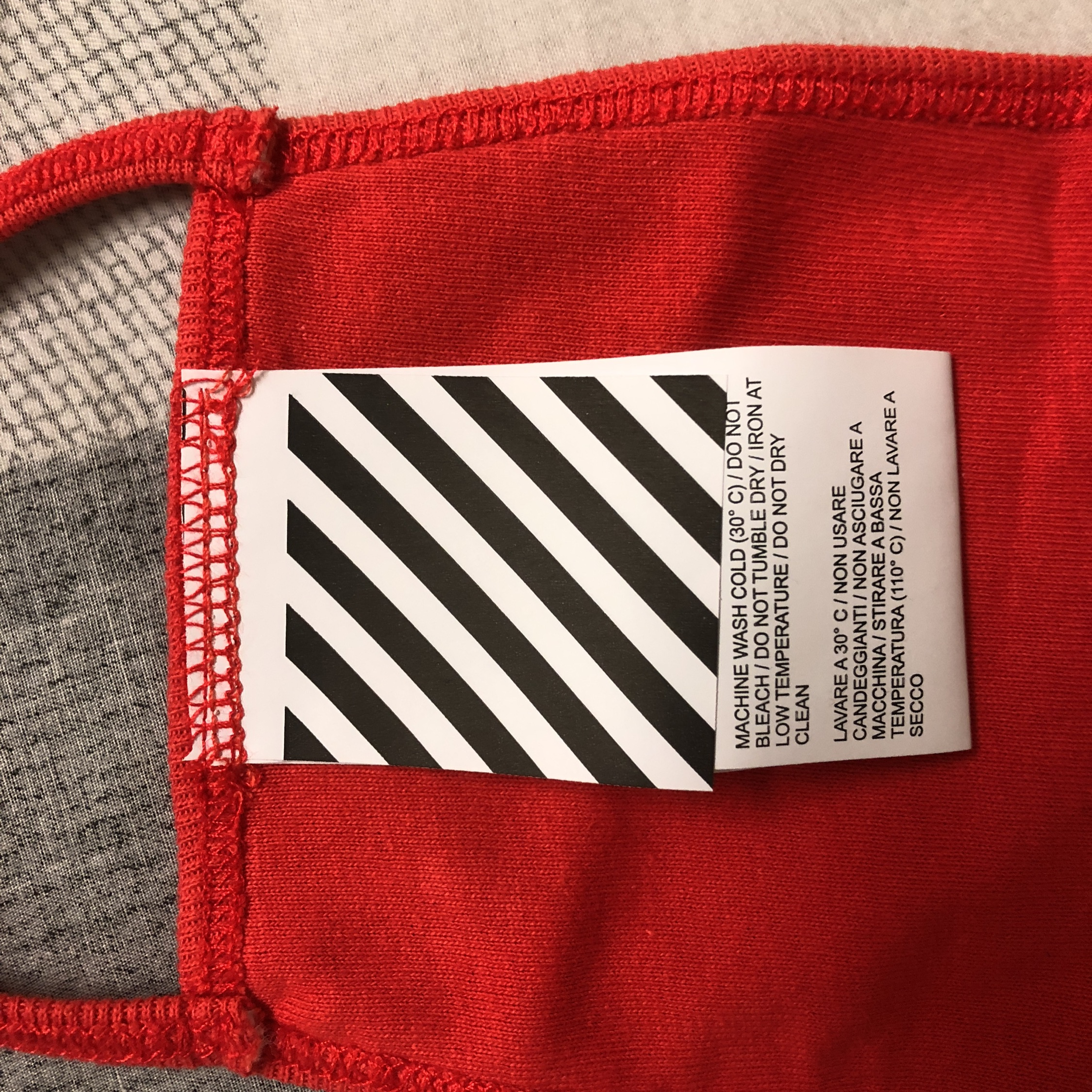 Off White Red Mask
