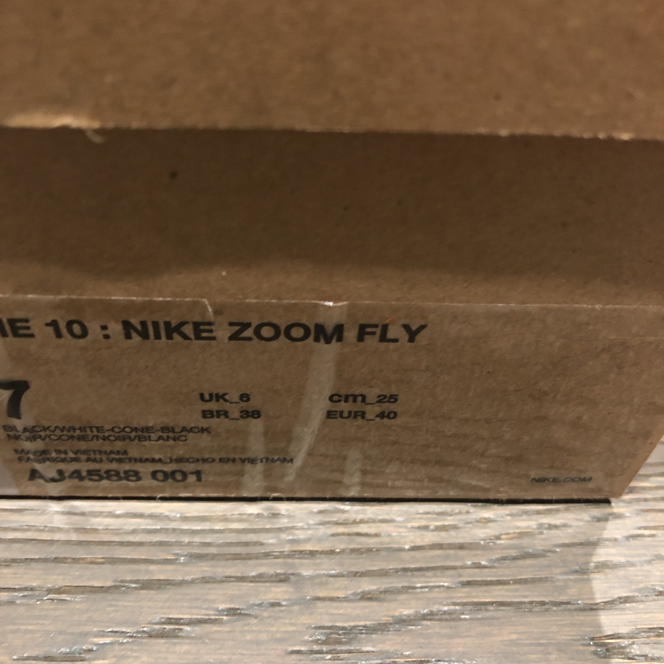 Nike Off White Zoom Fly (Black)