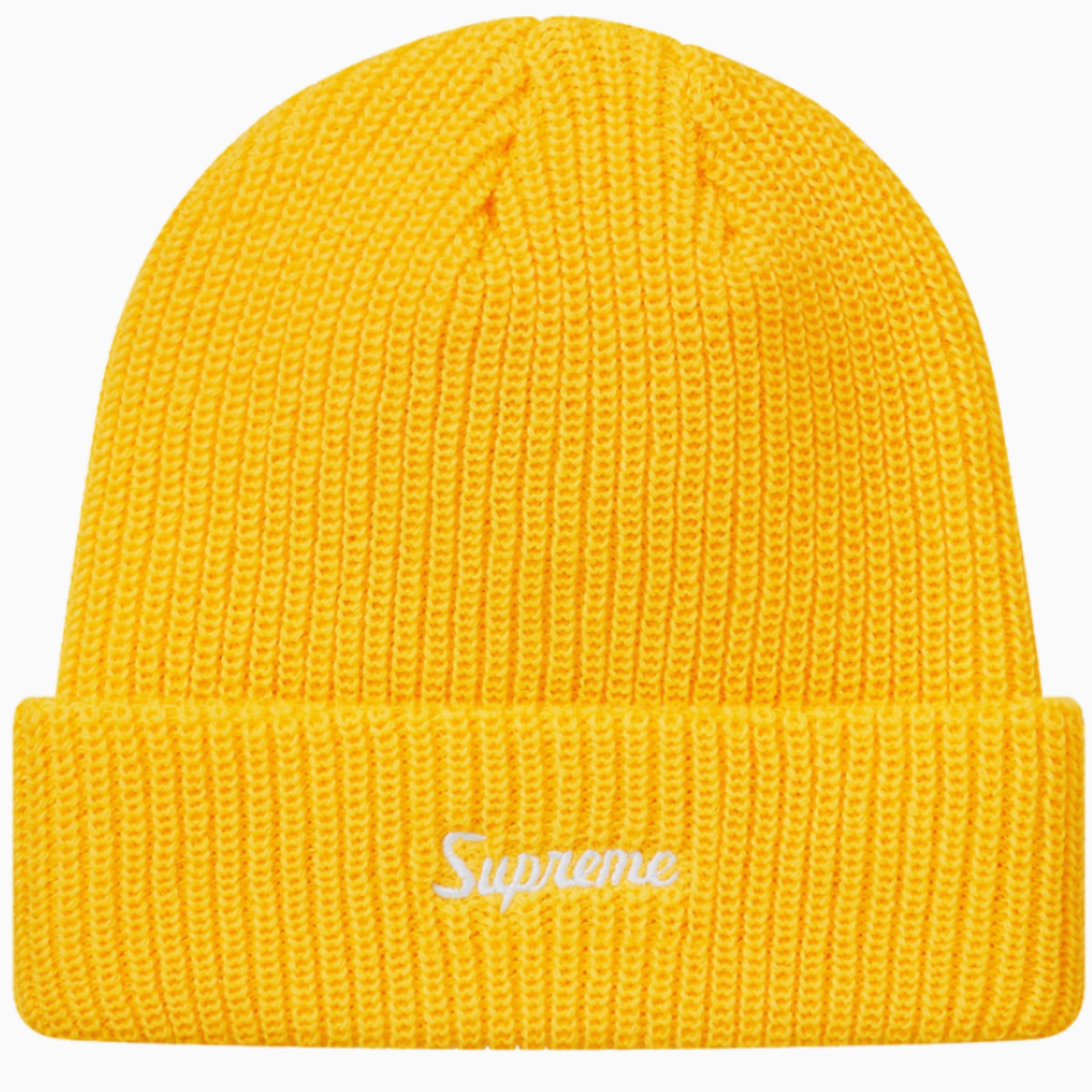 Supreme Loose Gauge Beanie (Fw18) Yellow