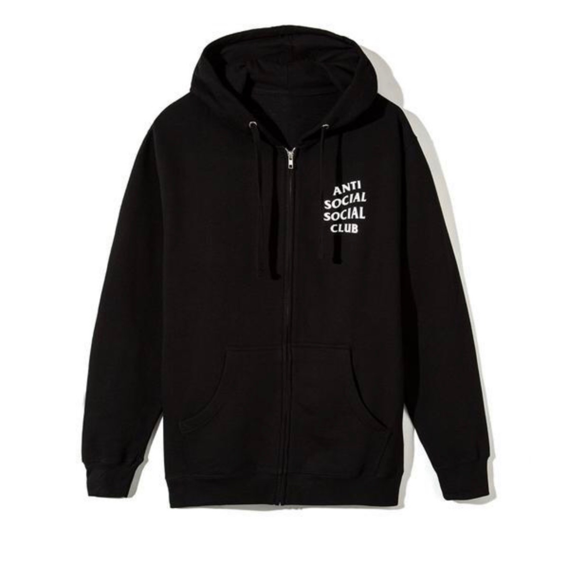 Anti Social Social Club Black Zipper