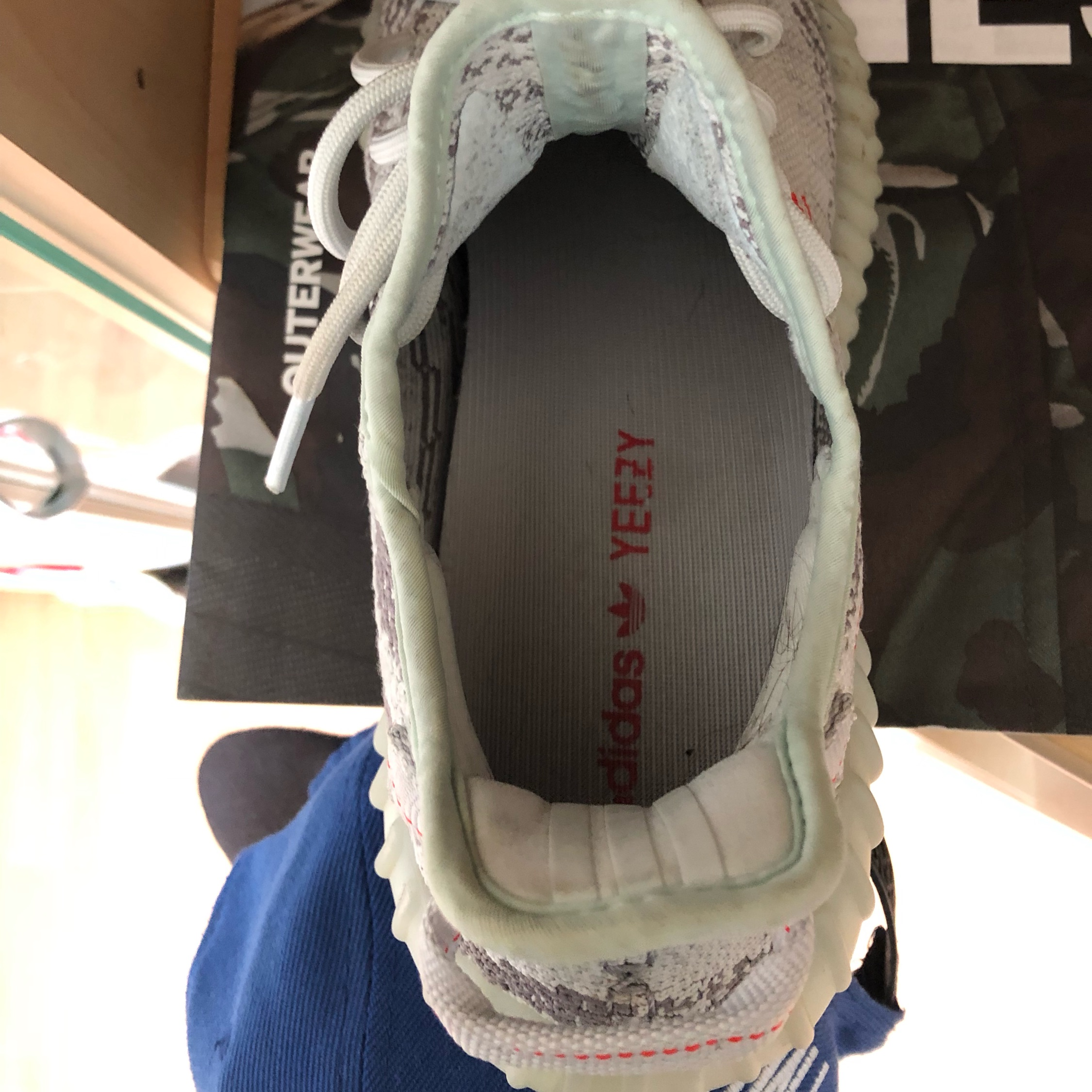 Yeezy Boost350 Bluetint Us10 In Top Condition