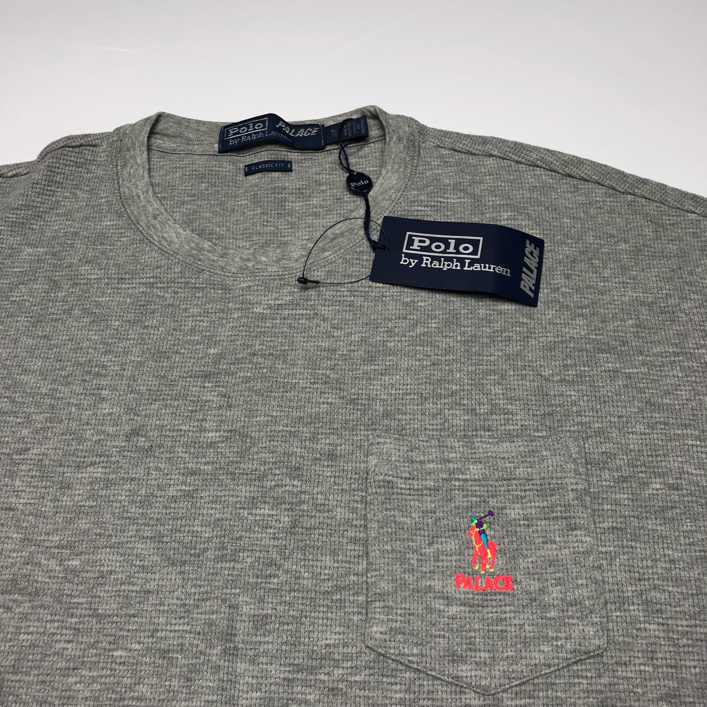 Palace X Polo Ralph Lauren Waffle Pocket T Shirt