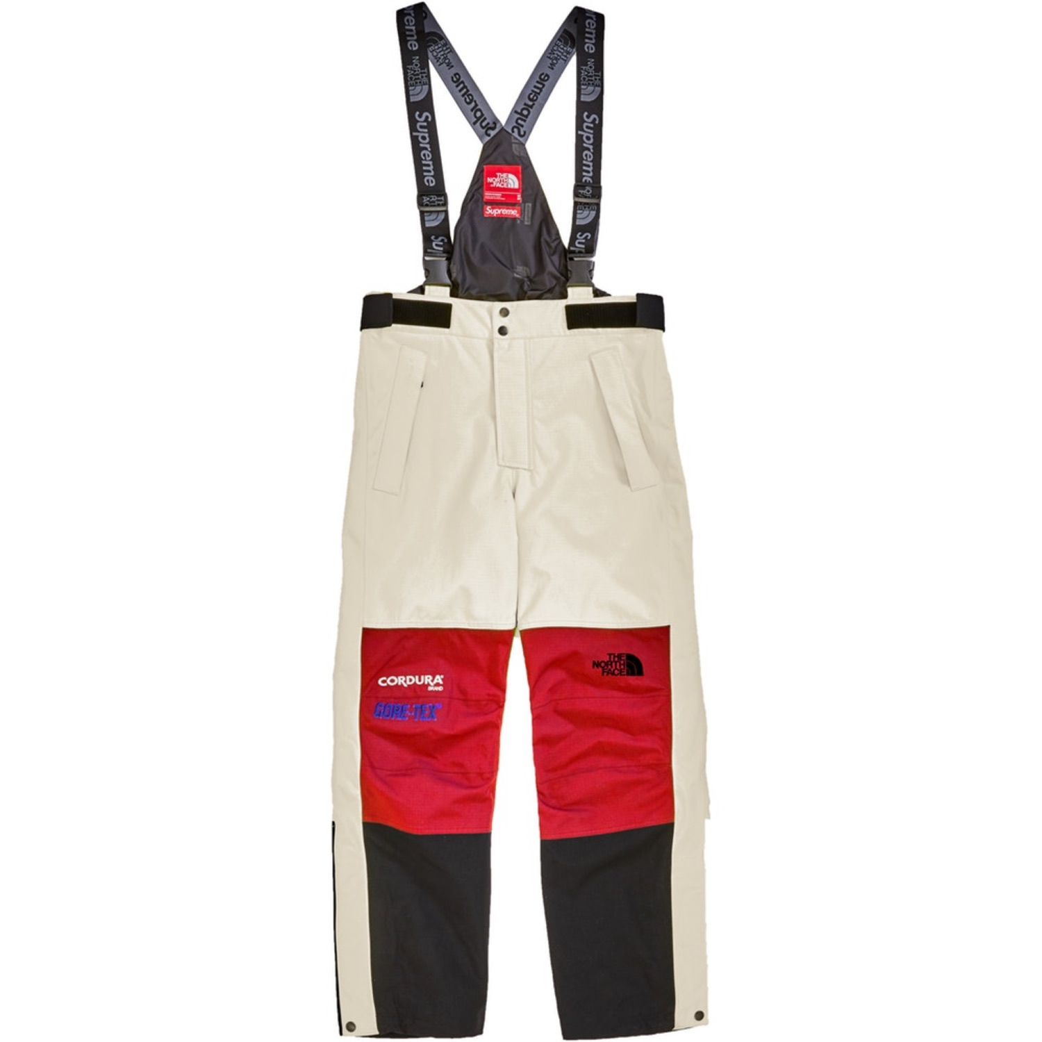 mieux aimé 6c8bf b3241 Supreme Tnf Expedition Pants Salopette White Red