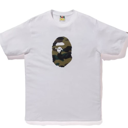 Bape Summer Green Camo Ape Head Tee