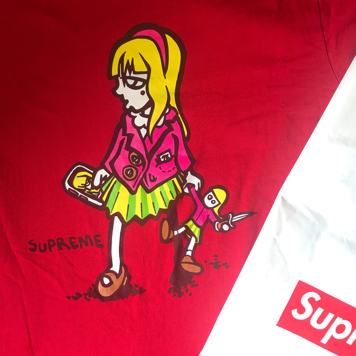 Supreme Switchblades Tee Red