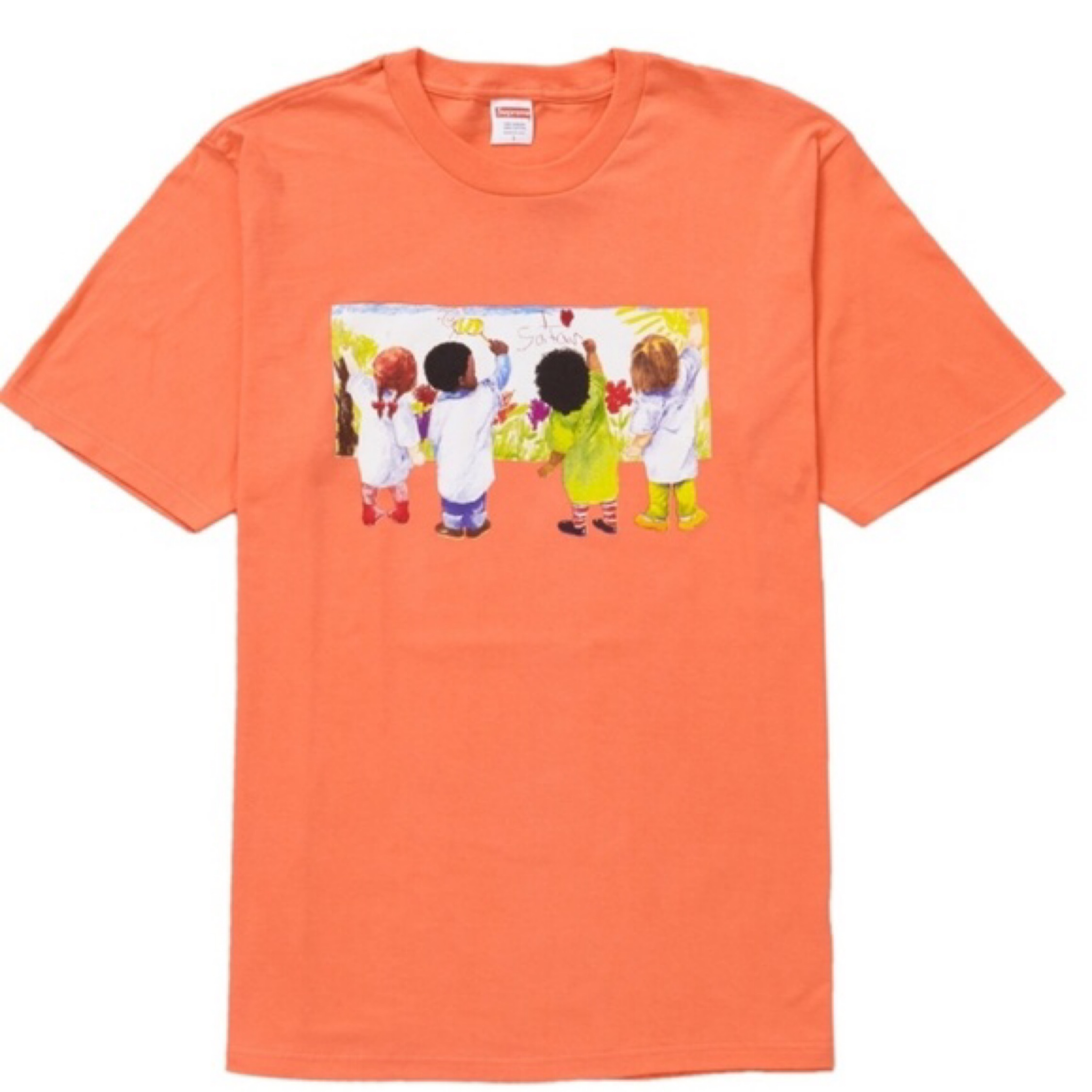 Ds 19 Supreme Kids Tee Neon Orange M Bape
