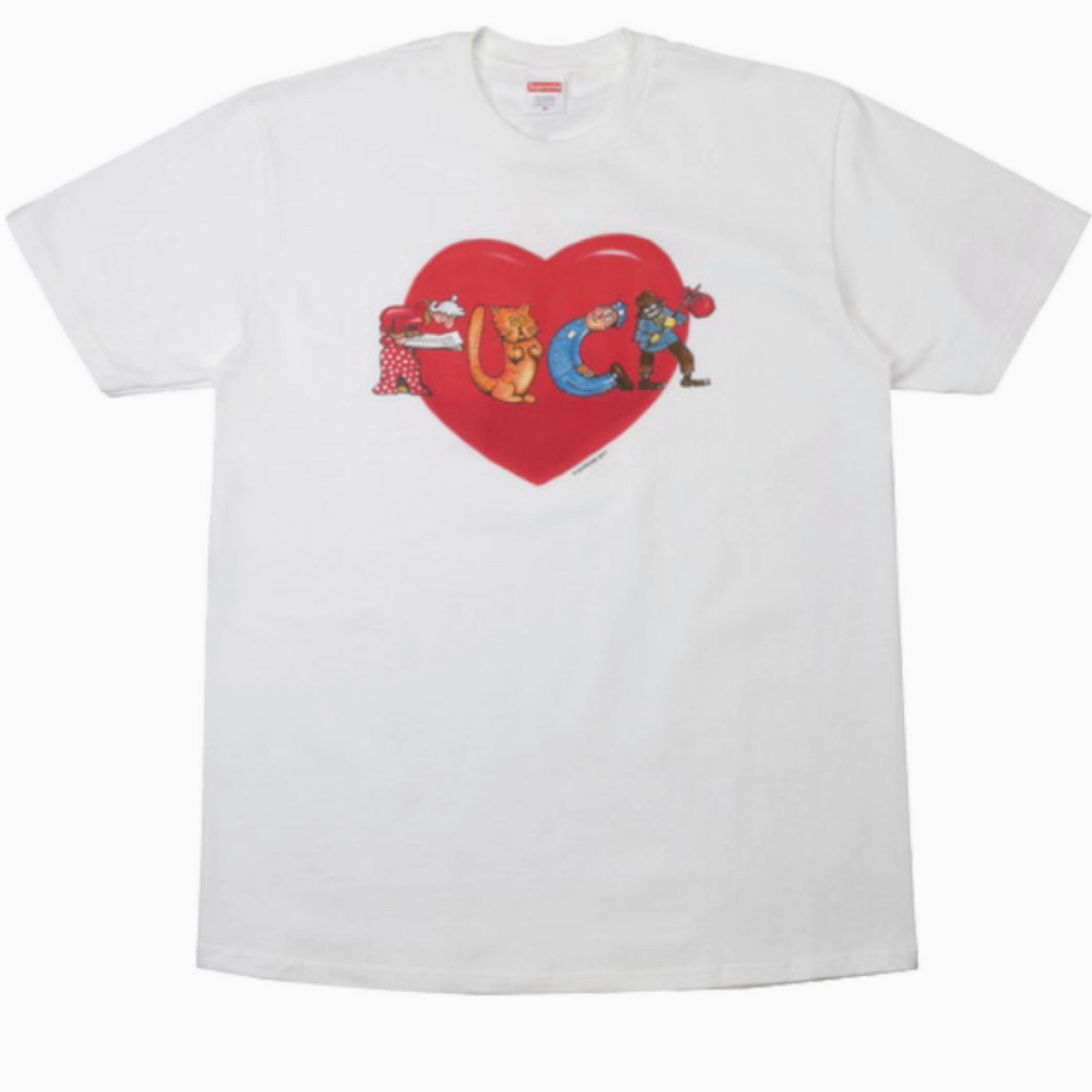 Supreme Fuck Love Tee White