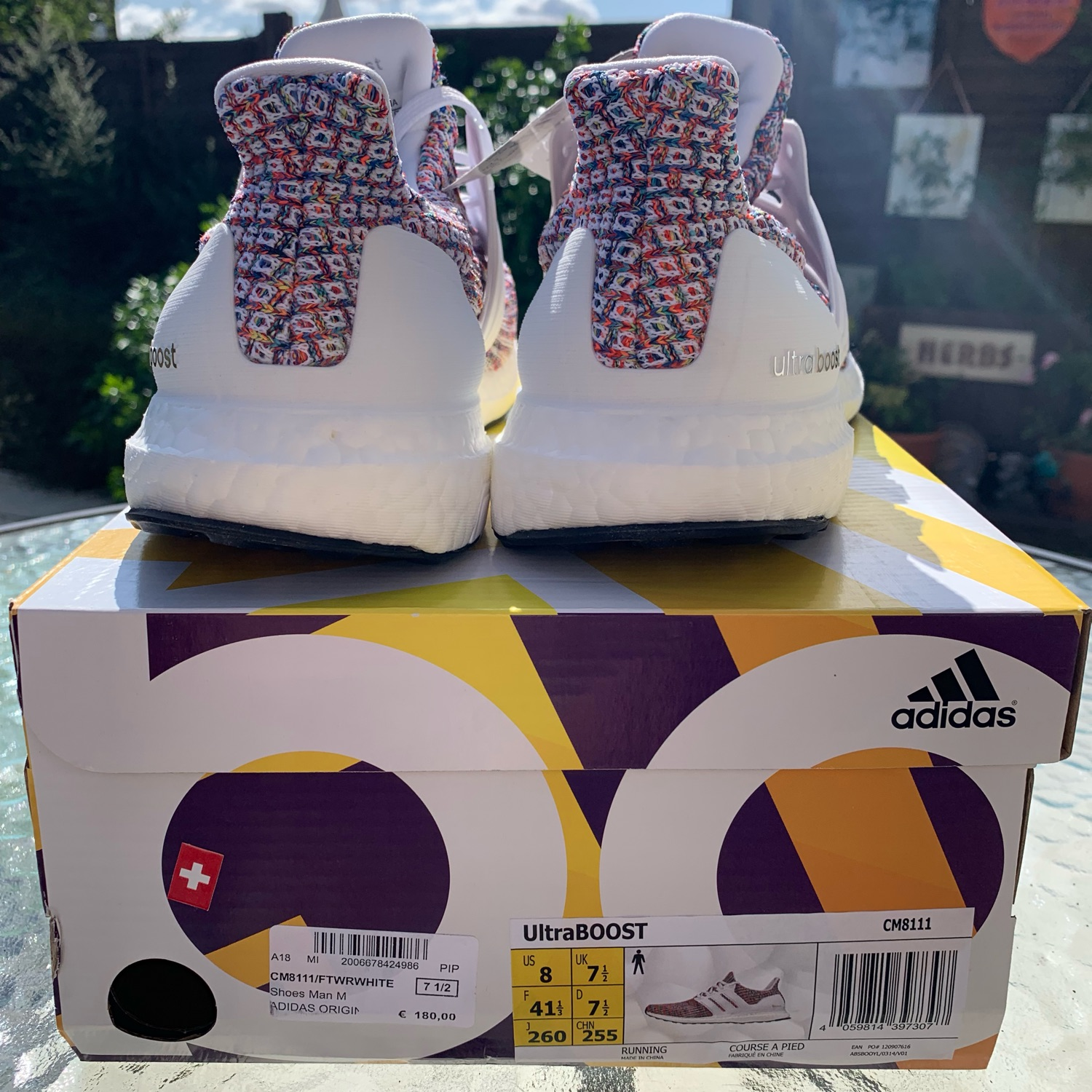 Adidas Ultra Boost 3.0 Energy Red Size 9. S80635 NMD