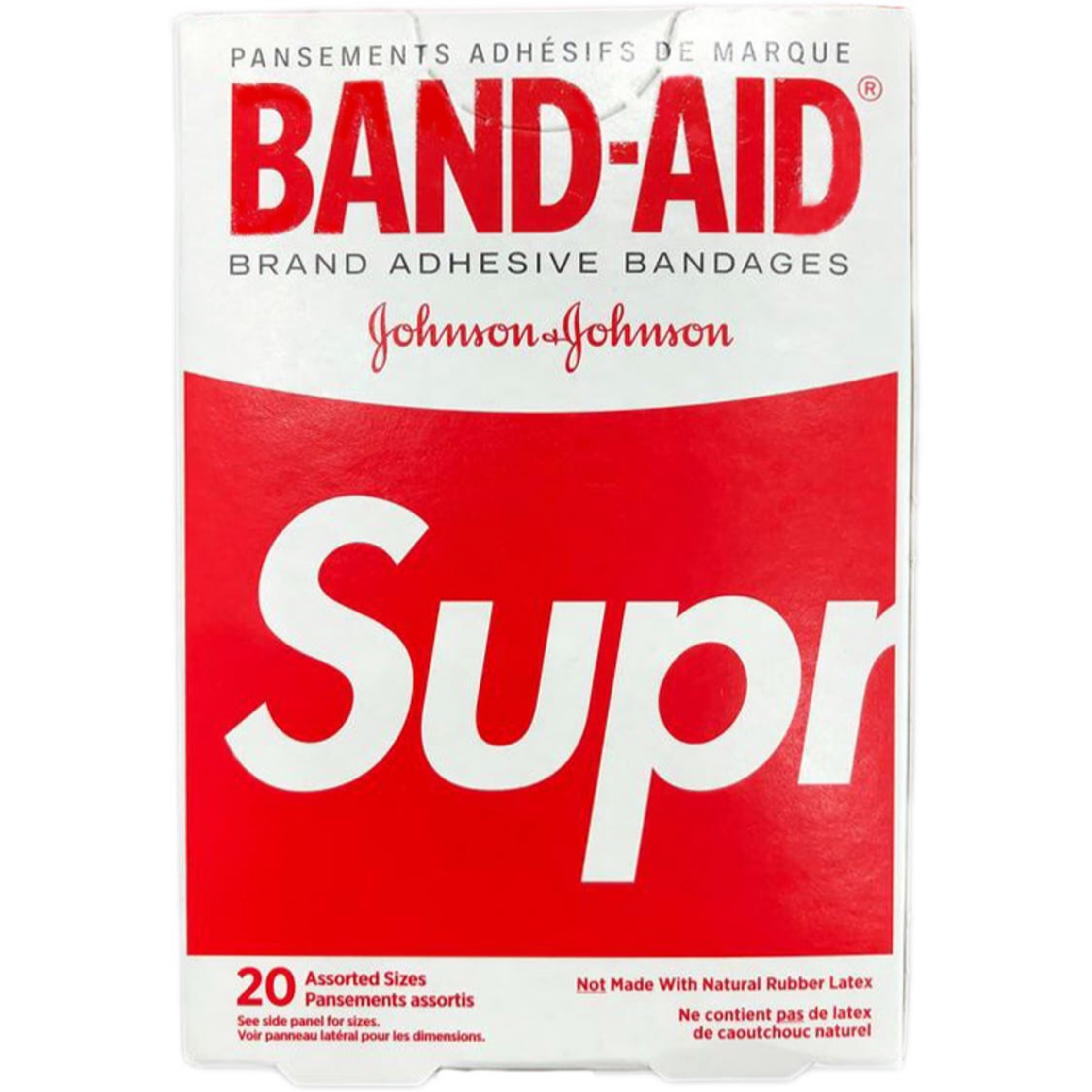 Supreme Band Aid Adhesive Bandages Box Of 20 Red