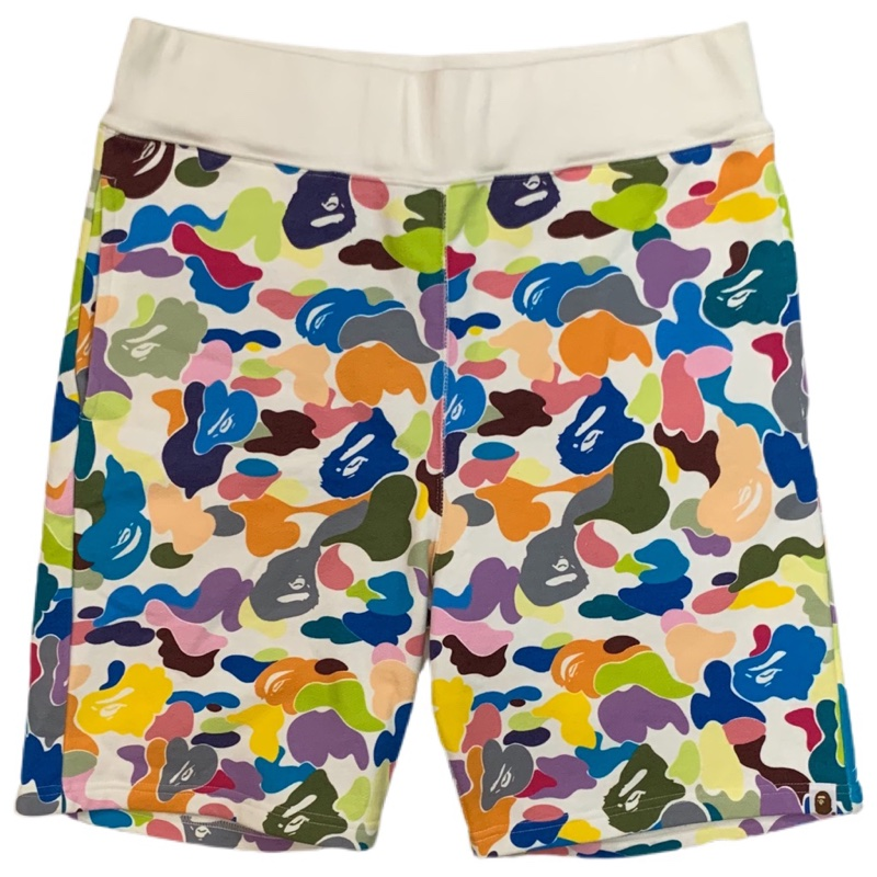 Bape Multi Camo Shorts White