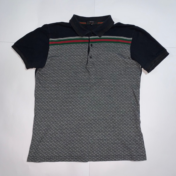 Vintage Gucci Monogram Polo Shirt Diamond Polo