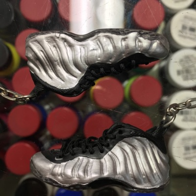 2011 Nike Air Foamposite One Pewter 3D Keychain