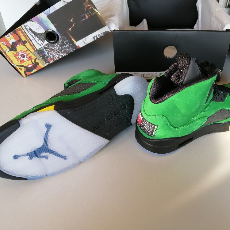 "Nike Air Jordan 5 Retro SE Oregon ""Apple Green"""