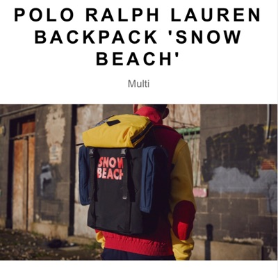 Polo Ralph Lauren Snow Beach Backpack