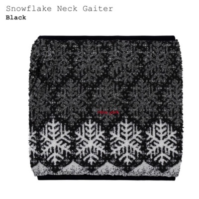 Supreme Snowflake Neck Giater (Black) *Sold Out