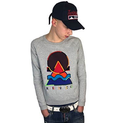Kenzo Paris Grey Men's Crewneck Jumper