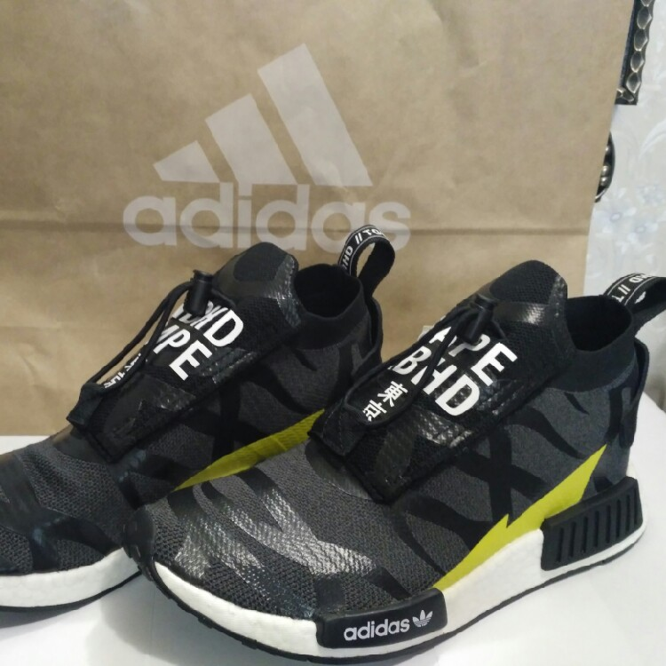 the latest 96f6d 09ed6 Adidas NMD TS1 BAPE X Neighborhood