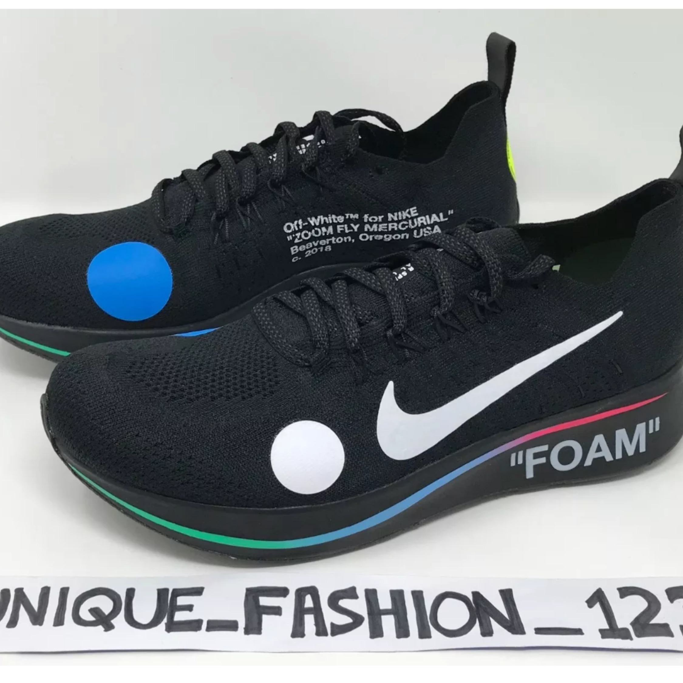 8b620289763cd Off White X Nike Mercurial Black