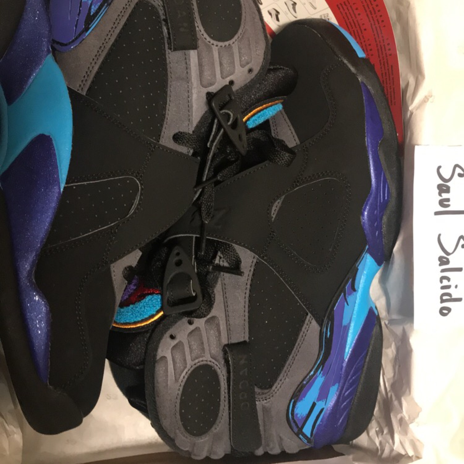 timeless design ba3a0 52e3a Air Jordan 8 Retro  Aqua
