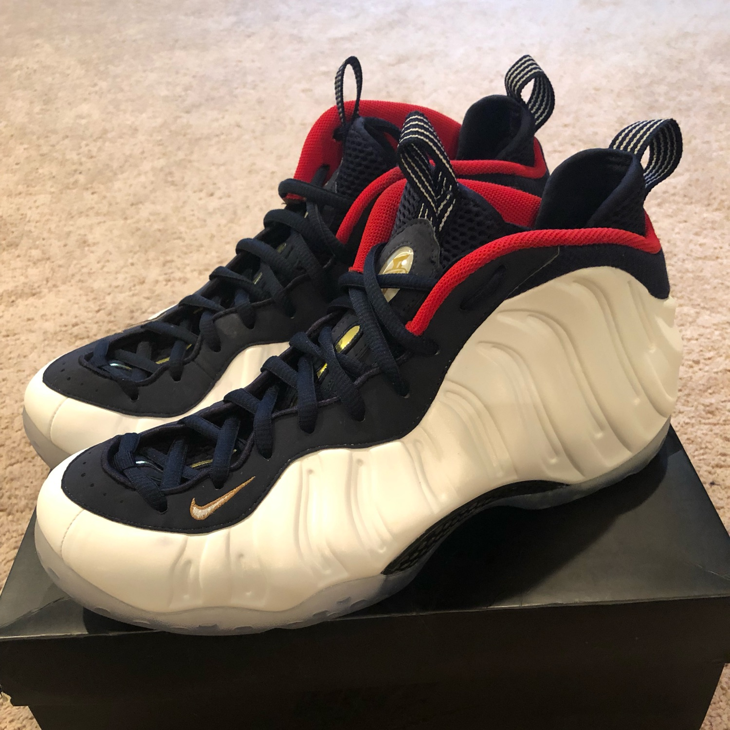 free shipping b5eff df34c Air Foamposite One Olympic