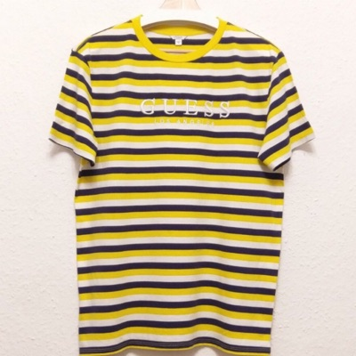 Guess Yellow Stripped American Tradition Jeans Sh