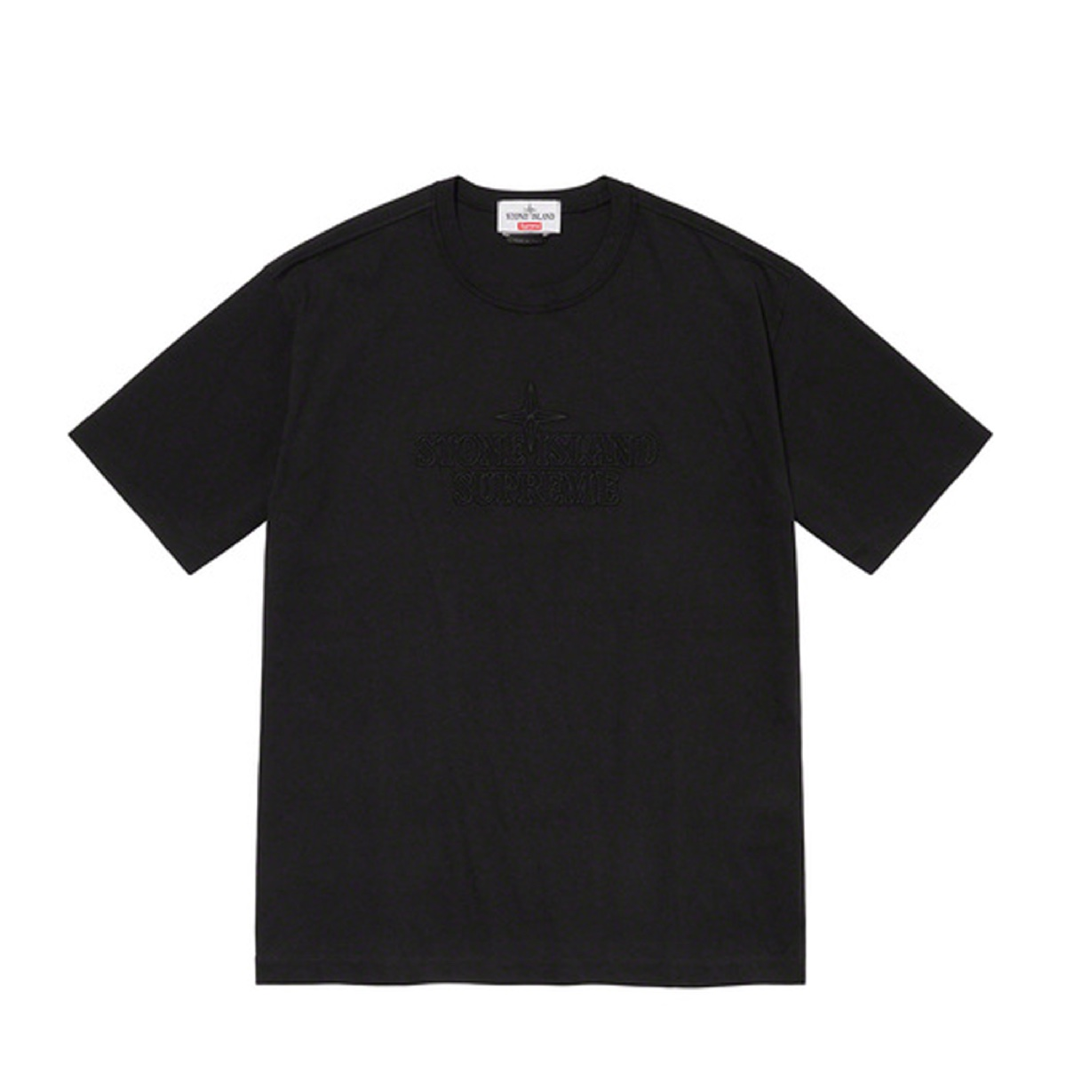 Supreme Stone Island Embroidered Logo SS Top Black