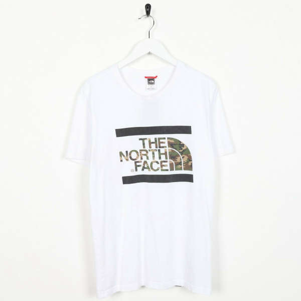 Vintage THE NORTH FACE Big Logo T Shirt Tee White Small S
