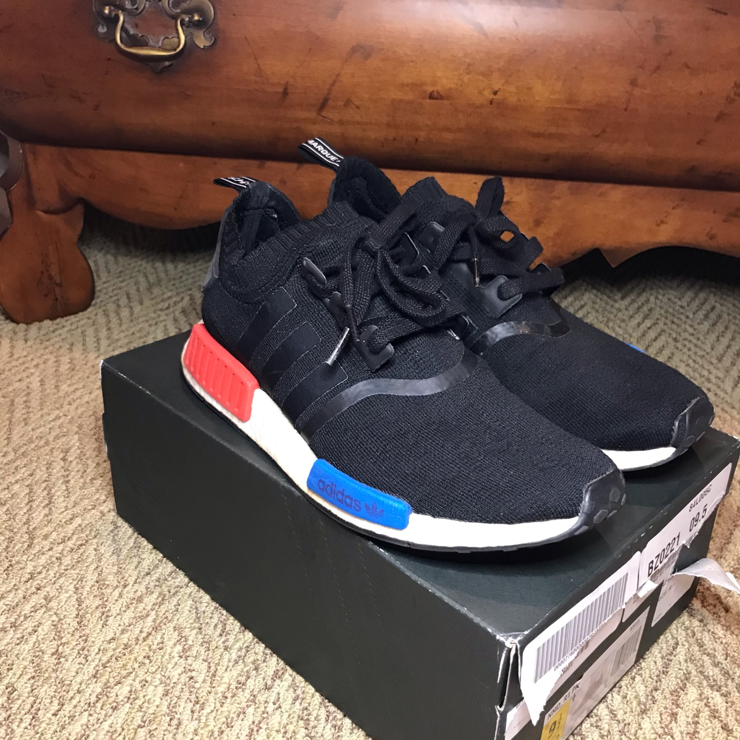 discount f1227 2a958 Adidas Nmd R1 Core Black Lush Red(Send Offers)