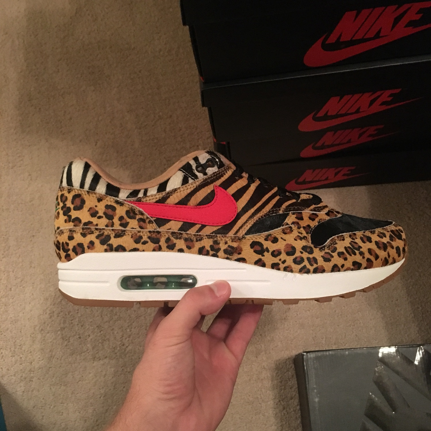 cheap for discount f8649 88c9f Nike X Atmos Air Max 1 Safari 2018