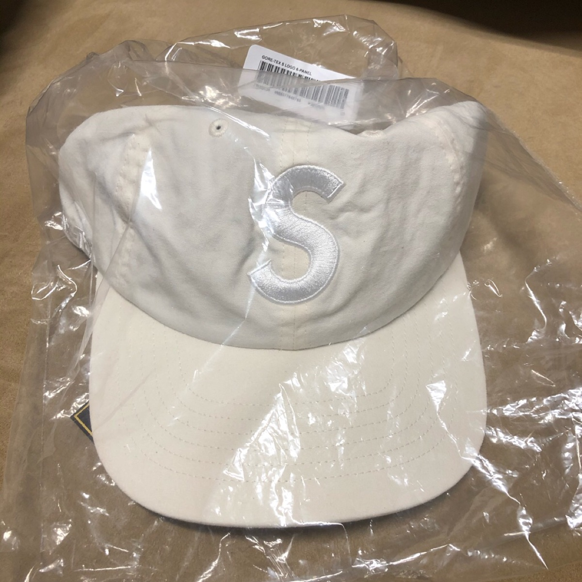 Supreme GORE-TEX S Logo 6-Panel Natural