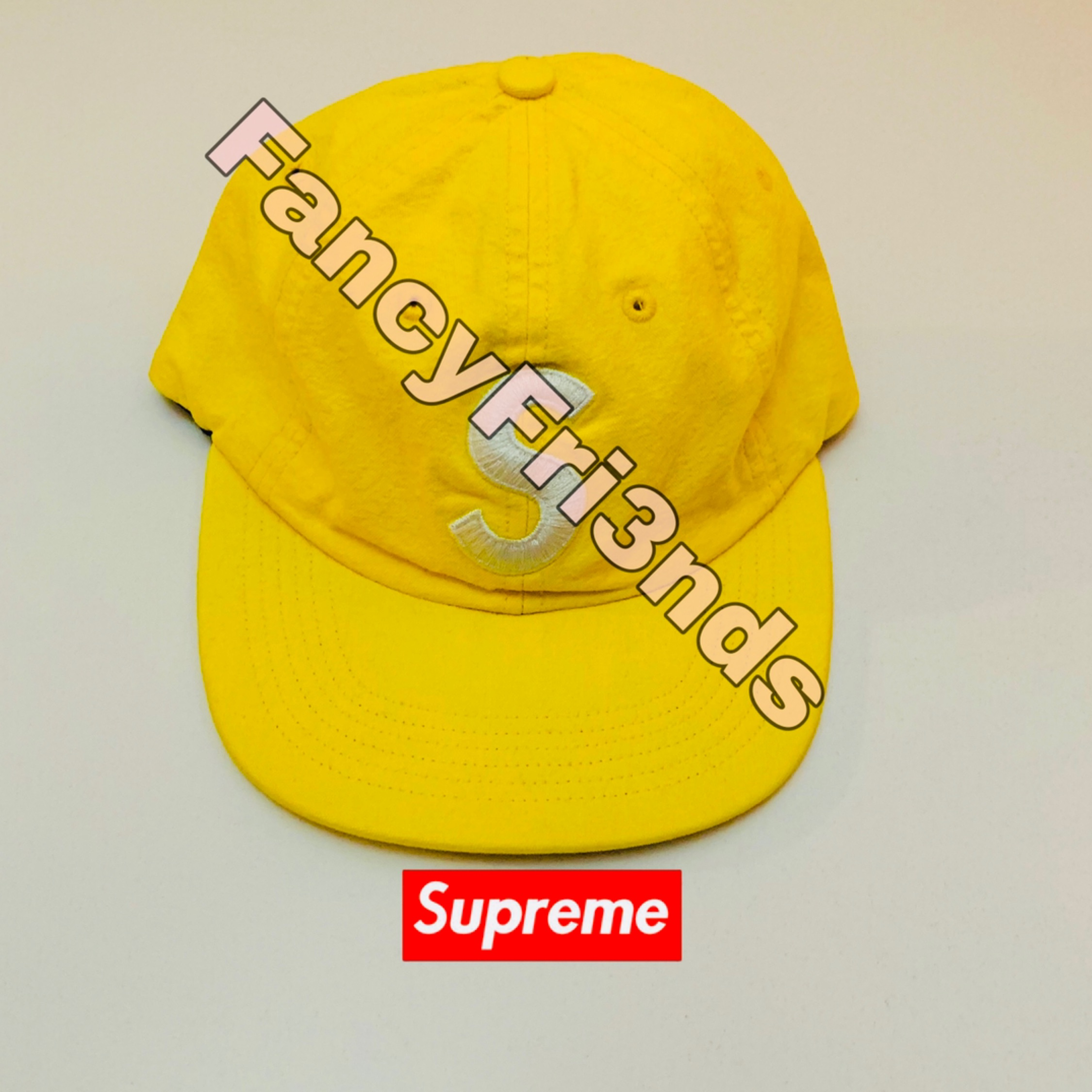 Supreme Washed Chambray S Logo 6-Panel Yellow