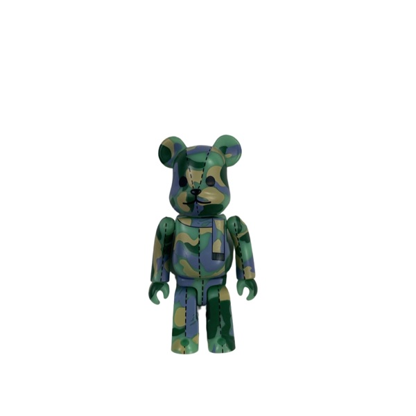Bape Green & Purple Camo Bearbrick 100%