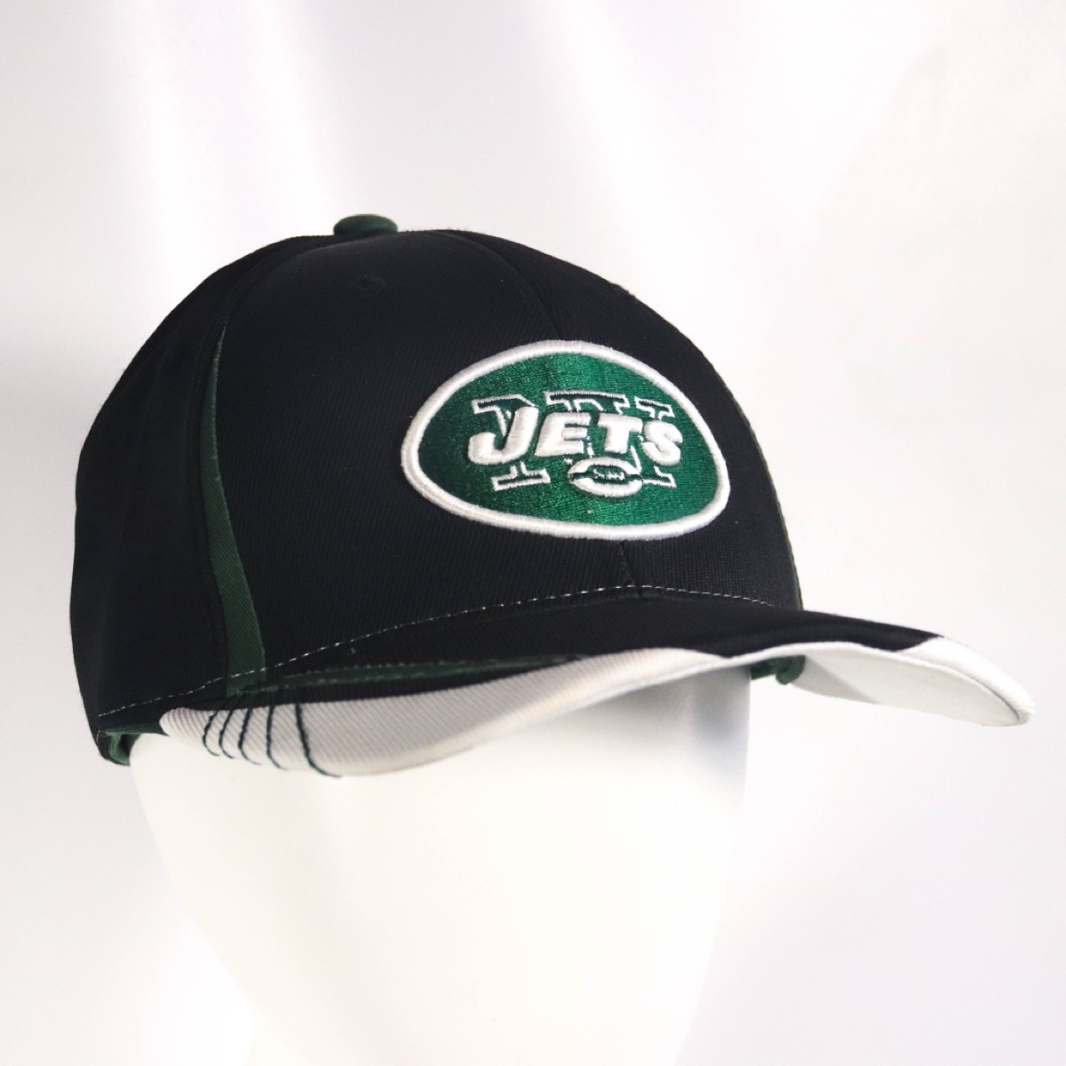 Black Green Embroidered New York Jets Reebok Fitted NFL Football New Era 9FIFTY Hat Cap Size S / M