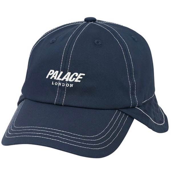 Palace Neck Saver 6-Panel Hat In Navy L/Xl