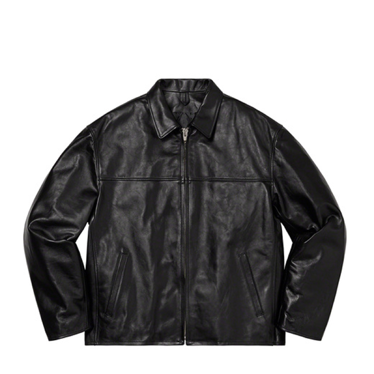 Supreme Yohji Yamamoto Down Leather Jacket Black