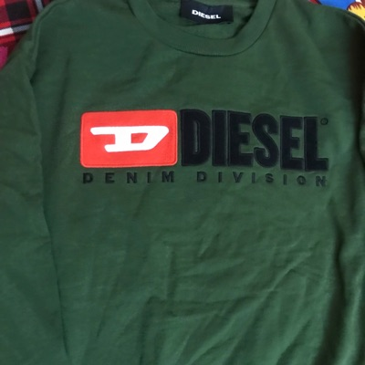 Diesel Brand New Darkgreen Longsleeves Sweatshirt