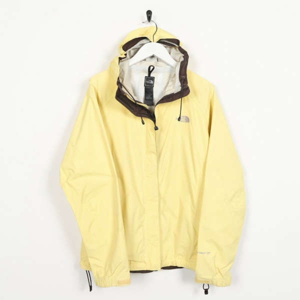 Vintage Women's THE NORTH FACE Hyvent Hooded Coat Jacket Yellow   Medium M