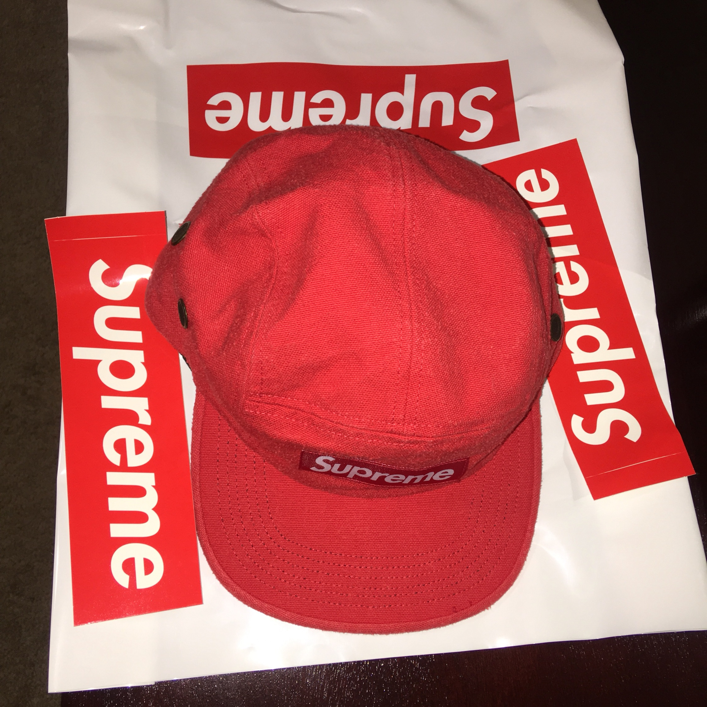 8741a2815a0 Supreme Napped Canvas Camp Cap Red