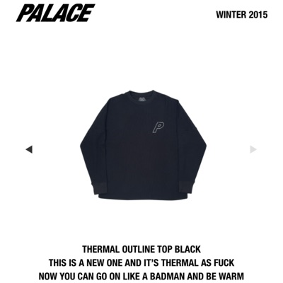 Palace Thermal Outline Top Black