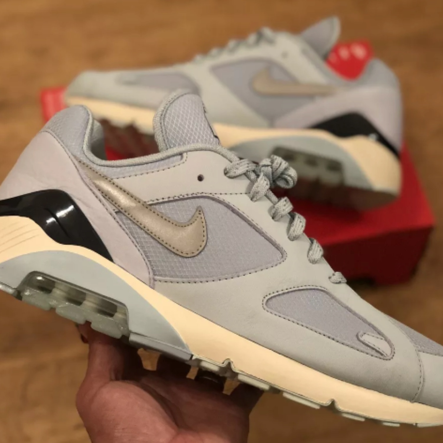 hot new products best cheap nice cheap Nike Air Max 180 Fire & Ice Pack Blue